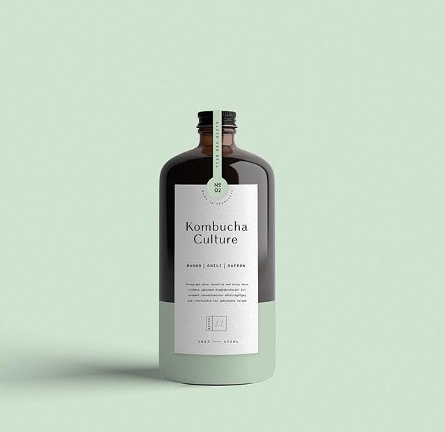 Minimal graphic design packaging