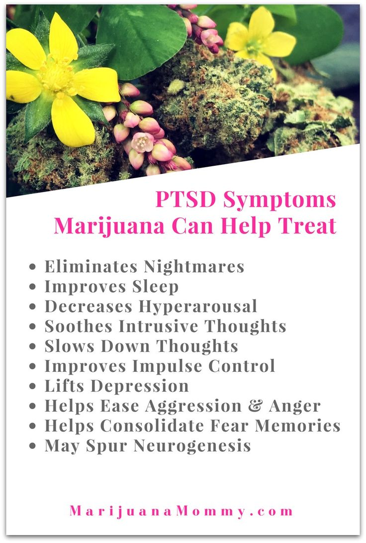 Science Explains How MMJ Treats PTSD  Does marijuana help PTSD? It can. Here are the symptoms it can treat & the science explaining why cannabis helps PTSD. All medicines have risks including MMJ. #cannabiscommunity #legalize