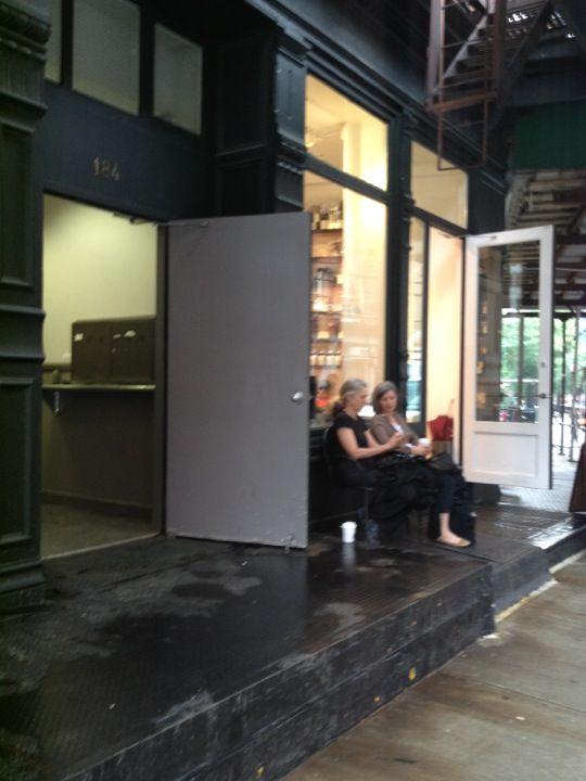 Laughing Man Coffee & Tea in New York, NY, Hugh Jackman's coffee shop.