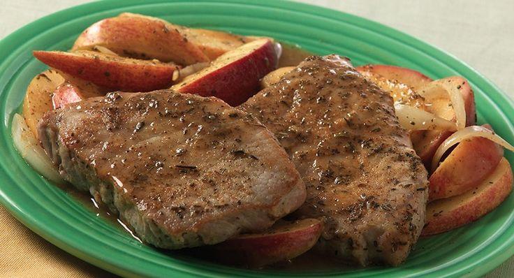 Easy Apple Pork Chops Recipe — Dishmaps