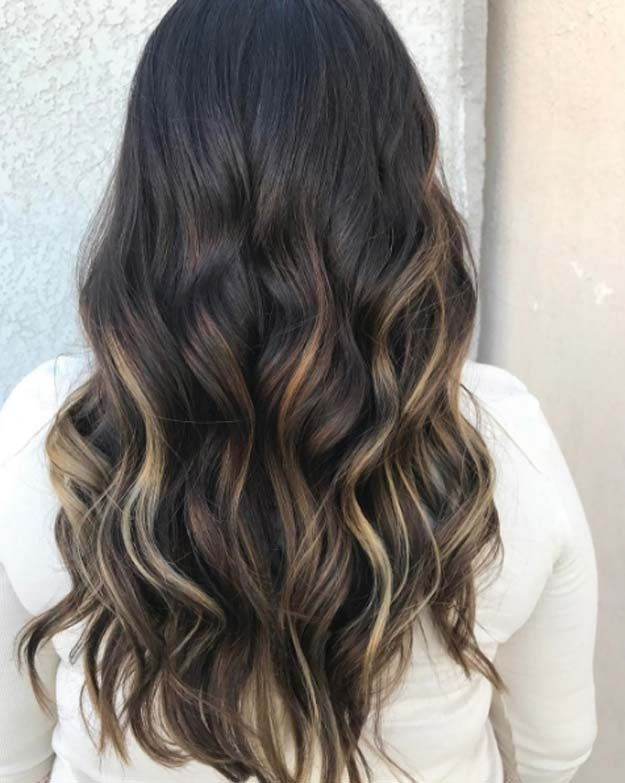 Balayage High Lights To Copy Today - Earth Angel - Simple, Cute, And Easy Ideas For Blonde Highlights, Dark Brown Hair, Curles, Waves, Brunettes, Natural Looks And Ombre Cuts. These Haircuts Can Be Done DIY Or At Salons. Don't Miss These Hairstyles! - https://www.thegoddess.com/balayage-high-lights-to-copy