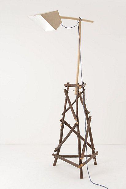Wild Wood Floor Lamp Gardens Homemade And Industrial