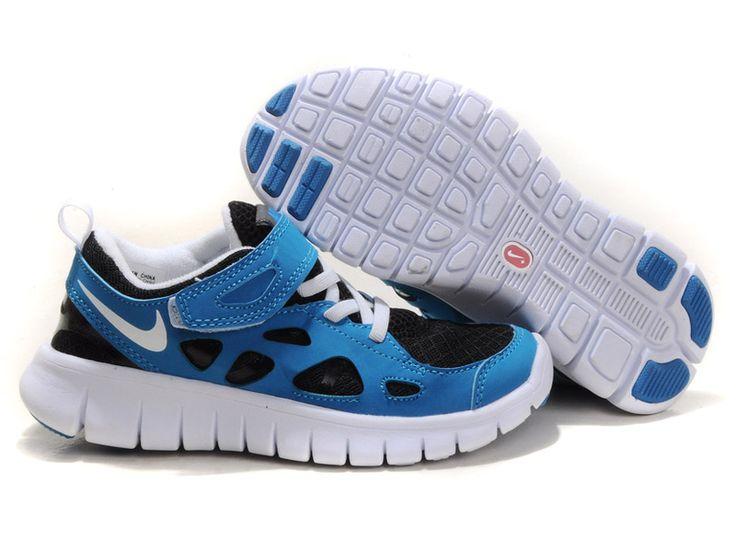 34be6de0121 Wholesale Nike Free Runs 2 Kids Royal Blue Black White Factory