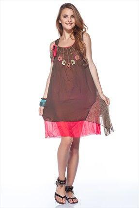 Etnik Seçimler - Kadın Tekstil - Haki Elbise 1018936 %53 indirimle 79,99TL ile Trendyol da