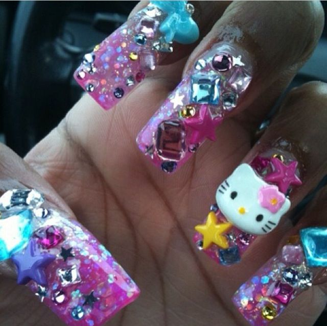 17 best images about hello kitty on pinterest pink hello for 3d nail art salon new jersey