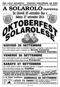 Oktoberfest Solarolese - Festa Della Birra http://www.sagreromagnole.it/?p=4302