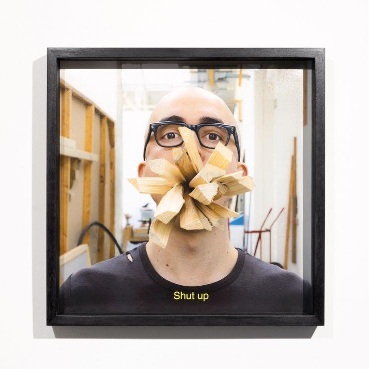 Santiago Reyes Villaveces | Shut up | 2016 | cotton paper inkjet | 40 x 40 cm | 1/3+AP