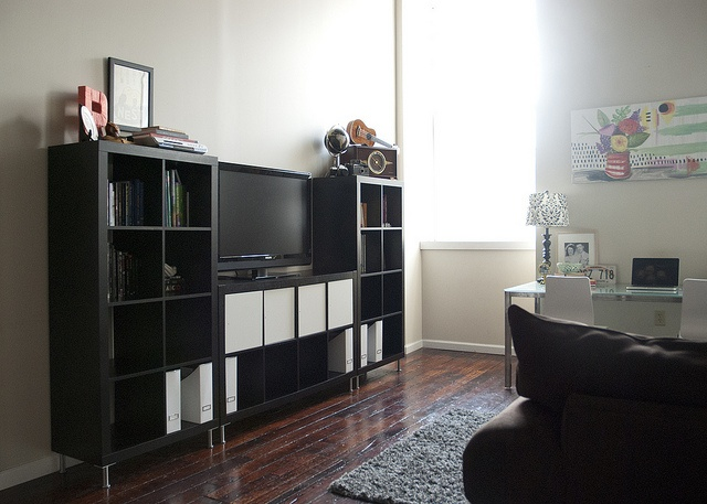 3 expedit shelves for tv stand new place pinterest. Black Bedroom Furniture Sets. Home Design Ideas