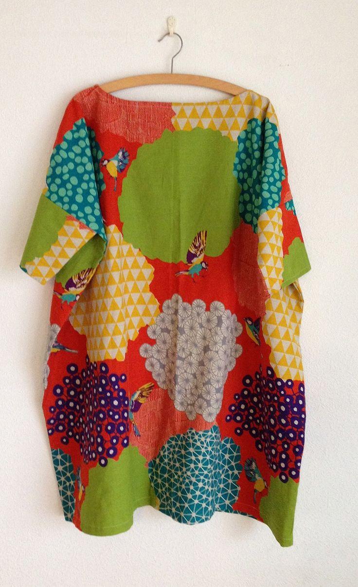 Echino square style dress (free PDF)