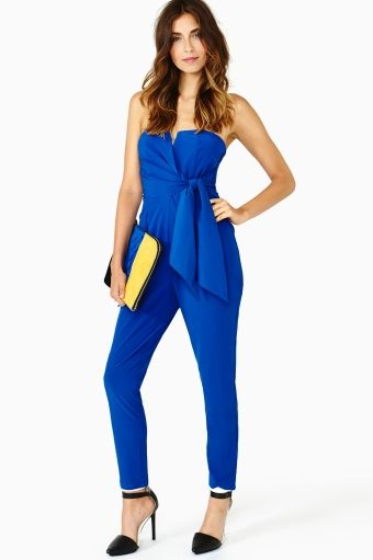 Jaden Wrap Jumpsuit - Blue (I wish I had the body for this. I would rock it SO HARD. but my boobs are entirely too big. le sigh)