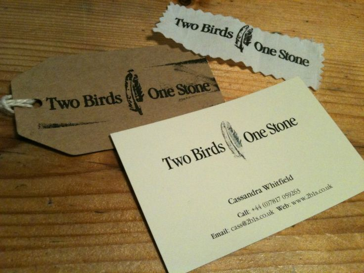 Two Birds One Stone Business Card design
