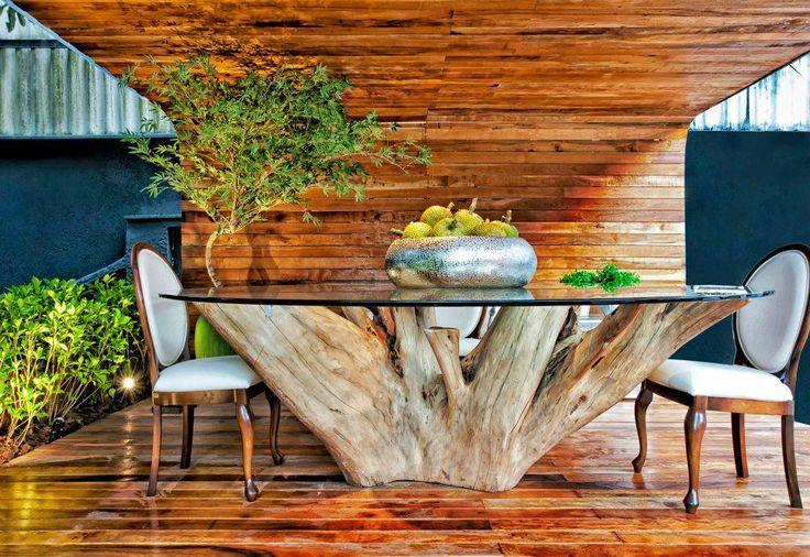 pe de mesa de tronco e raizes - Pesquisa Google