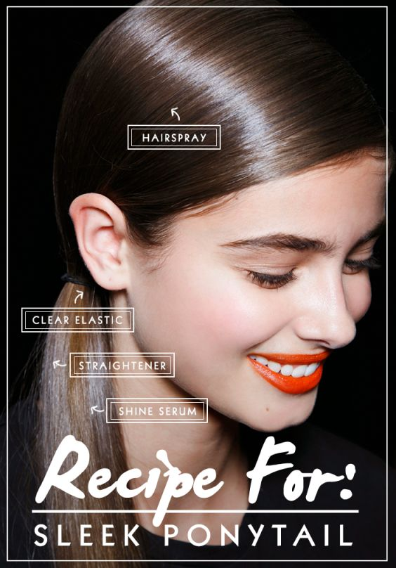 A polished low ponytail has been a favorite style on the NYFW Fall 2014 runways this week. Get quick tips on how to do one that looks sleek,not droopy.