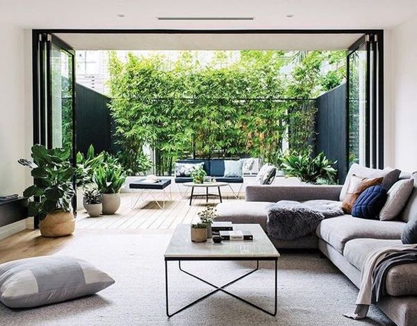 25 Seriously Beautiful Living Room Integrated With Outdoors Beautiful Living Rooms Indoor Outdoor Living Contemporary Living Room Design
