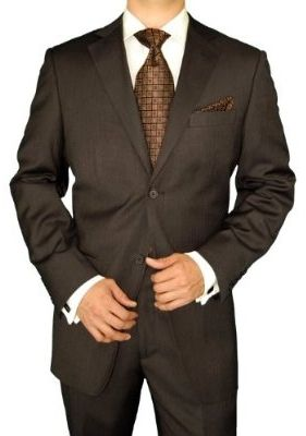 I want Michael to wear a suit like this but with a red tie!Slim Fit Suits, Brown Suits, Attendant Attire, Business Attire, Chocolates Brown, Business Suits, Brown Herringbone, Fit Men, Fashion Suits