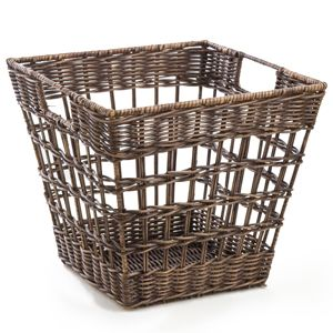 Wicker Pantry Basket in Antique Walnut Brown from The Basket Lady