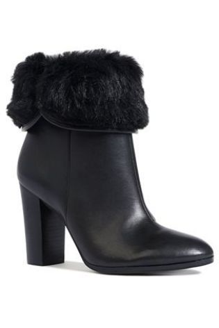 Buy Faux Fur Collar Block Heeled Boots from the Next UK online shop #myawcolour.
