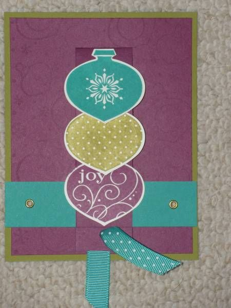 Ornament Waterfall Card by Sarah Klasing - Cards and Paper Crafts at Splitcoaststampers