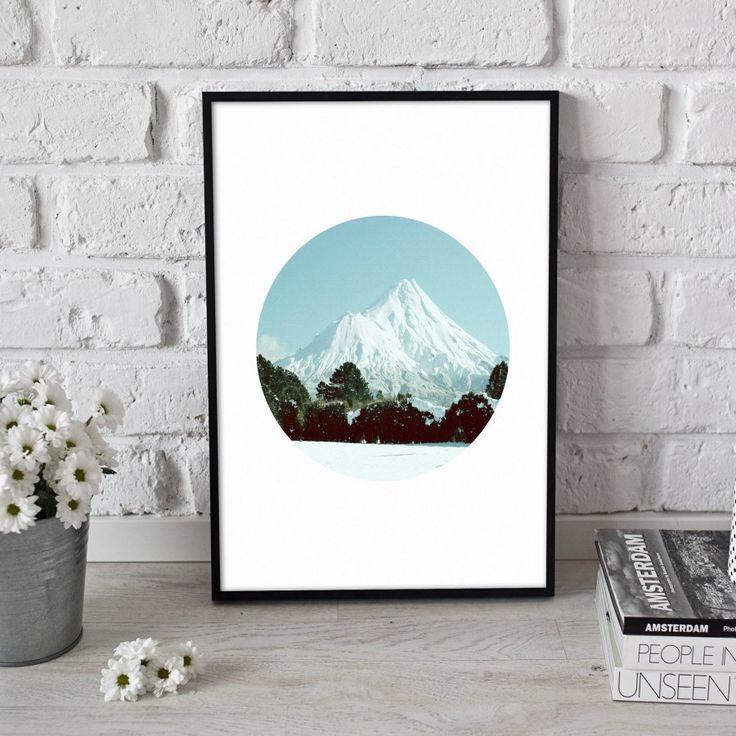 Mount Taranaki Scenic Print - A5, 8x10, A4, 11x14 or A3 Print