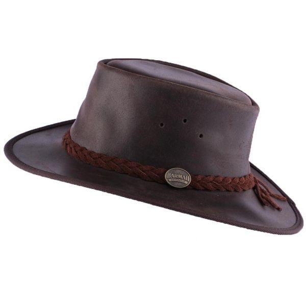 Chapeau Cuir Marron Brady Oil par Barmah Hats Le Choix Barmah Hat sur Hatshowroom.com #chapeaucuir
