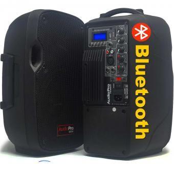 2 Cabinas Audiopro PRO8 Equipo de Sonido Profesional Activo Bluetooth Usb…
