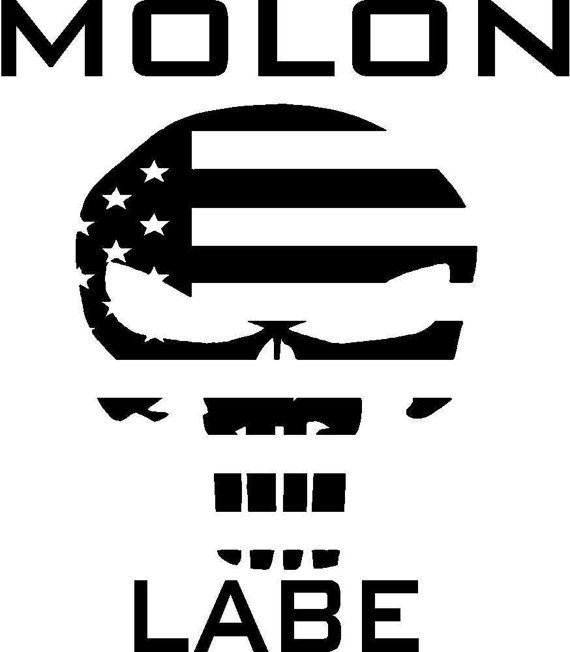 Molon Labe American Punisher skull decal by VindicatedGraphics
