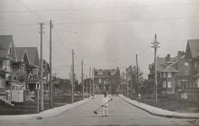 Playter Boulevard, looking north to Playter Crescent, 1930