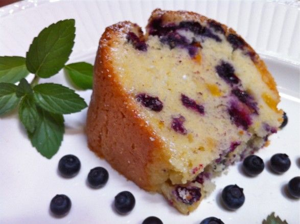 yum!Pound Cakes, Avenue Kitchens, Bundt Cake, Frozen Blueberries Recipe, Coffee Cake, Blueberries Peaches, Peaches Pound, Fountain Avenue, Pound Cake Recipe