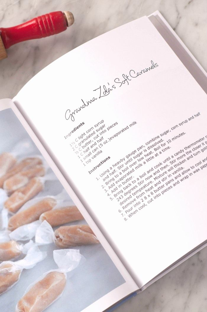 how to make your own family recipe book