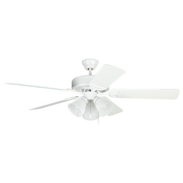 52 Refugio 5 Blade Standard Ceiling Fan With Pull Chain And Light Kit Included Ceiling Fan With Light Ceiling Fan Fan Light
