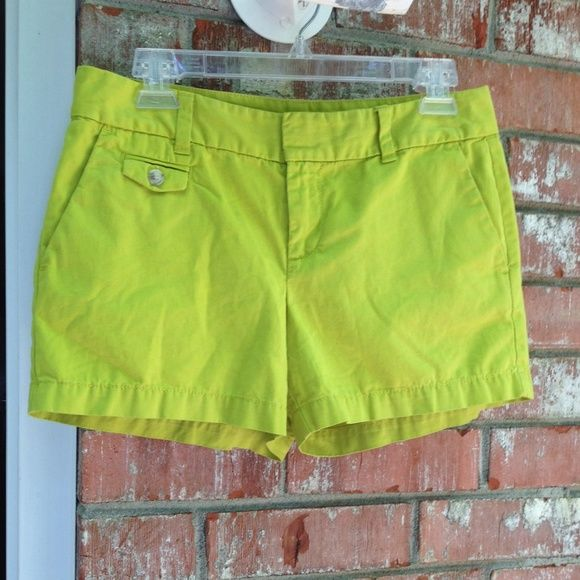 LOFT Lime Green Shorts Like new and very well cut. Lime green. 4 functional pockets. Just a size too small for me now. LOFT Shorts