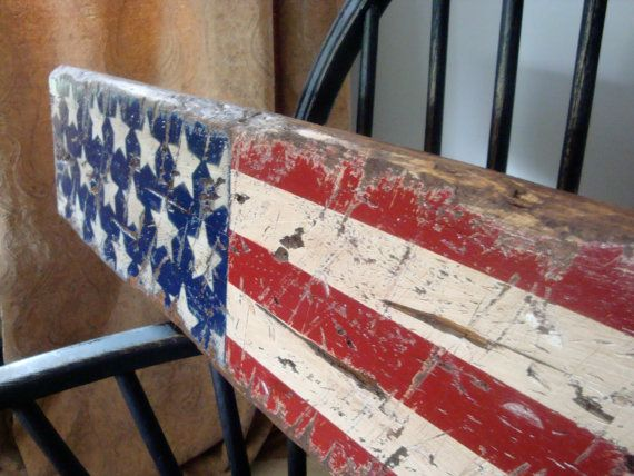 Rustic Distressed American Flag USA Star by TheUnpolishedBarn, $109.99