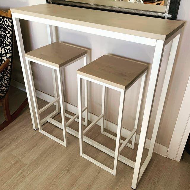 Muebles A Medida Hecho A Mano Buen Precio De Segunda Mano En Madrid En Wallapop Mesas Altas Cocina Mesa Alta Muebles A Medida