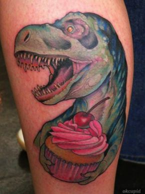 I always wanted a dinosaur tattoo, but this is just awesome