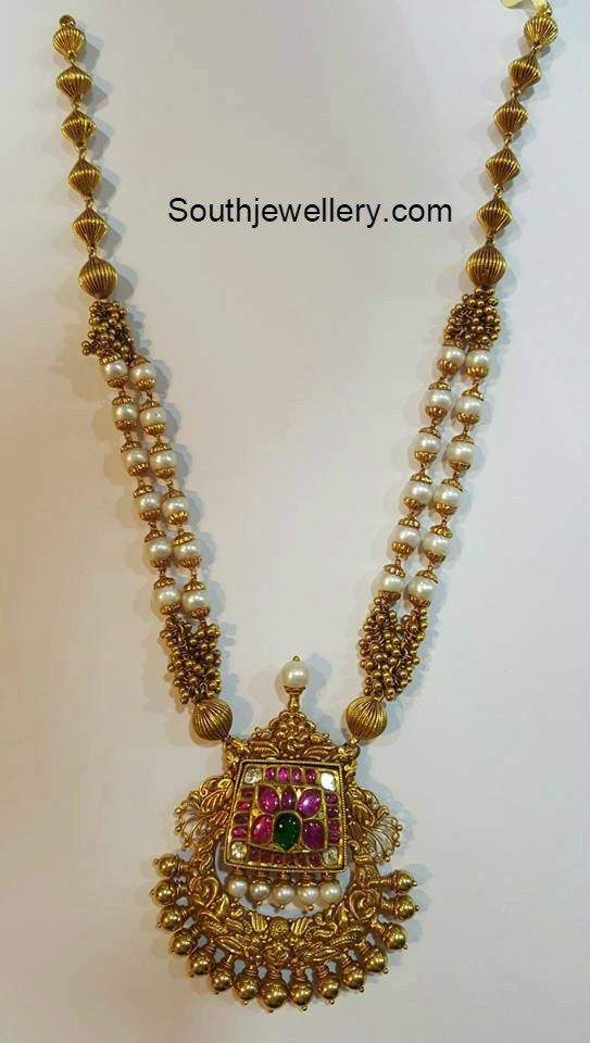 247 best Gold jewel South Indian images on Pinterest | Indian ...