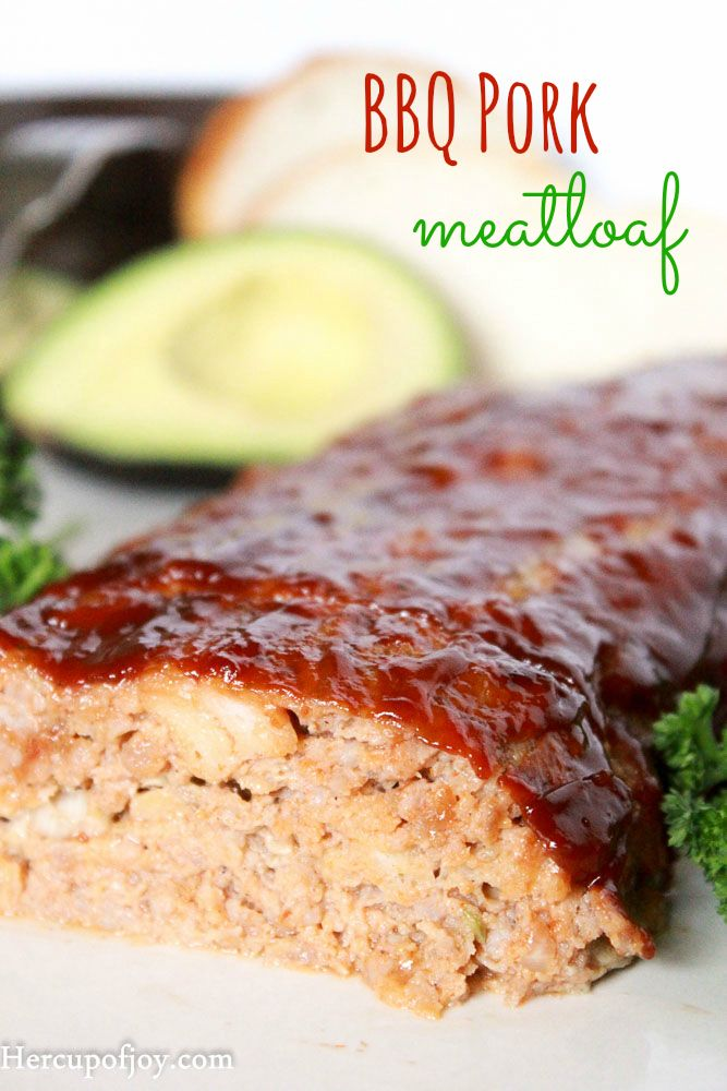 Juicy Barbecue Pork Meatloaf
