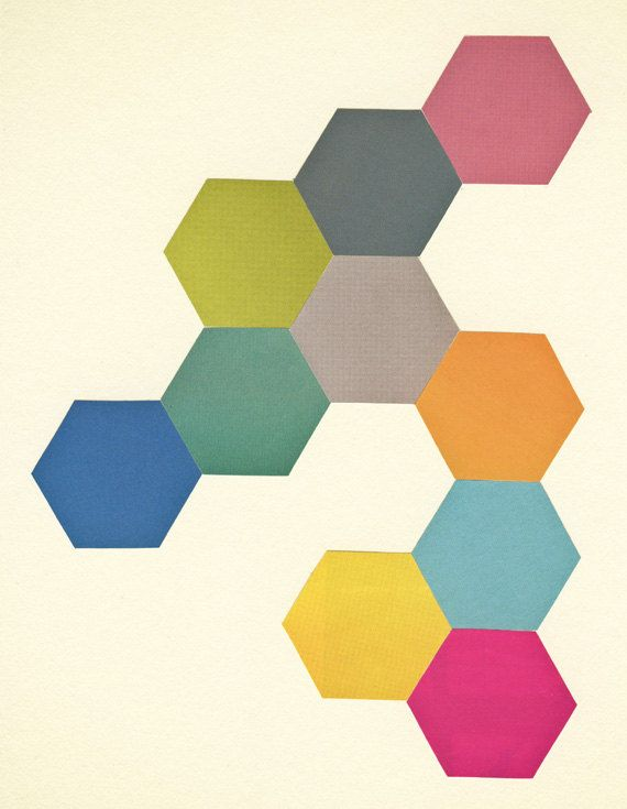 Geometric art minimalist decor abstract art honeycomb for Minimalist art decor