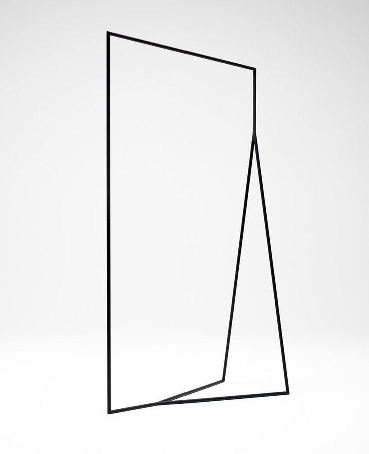 Nendo - thin black lines hang rail