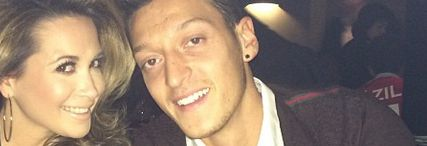 Mesut Ozil's girlfriend Mandy Capristo jokes about the Arsenal fan who failed to spot him in a bar