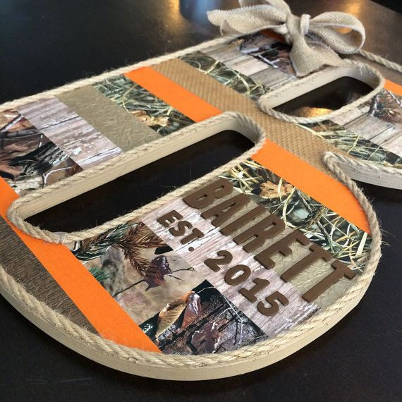18 RealTree Camo Extra Large Custom Letter by CraftyLittlePeas
