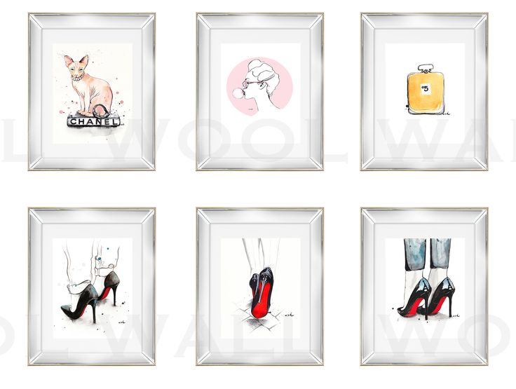 Set of Anna Hammer works. Art prints to buy in our online shop. WoolWall.pl