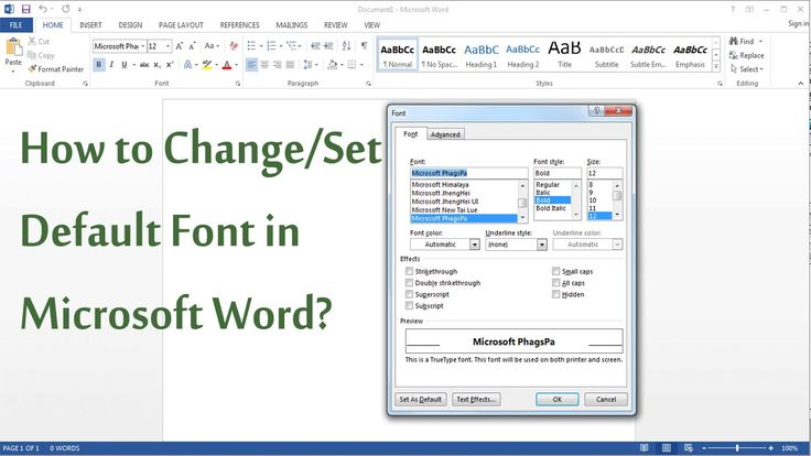 How to Set Default Font in MS Word 2003, 2007, 2013?