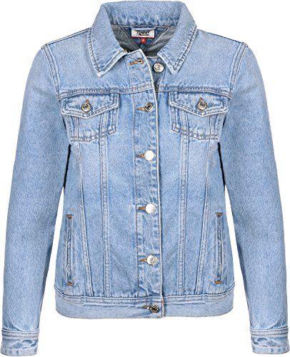 cc0338f3 Tommy Jeans Regular Trucker Womens Jacket X Small Light Blue Rigid ...