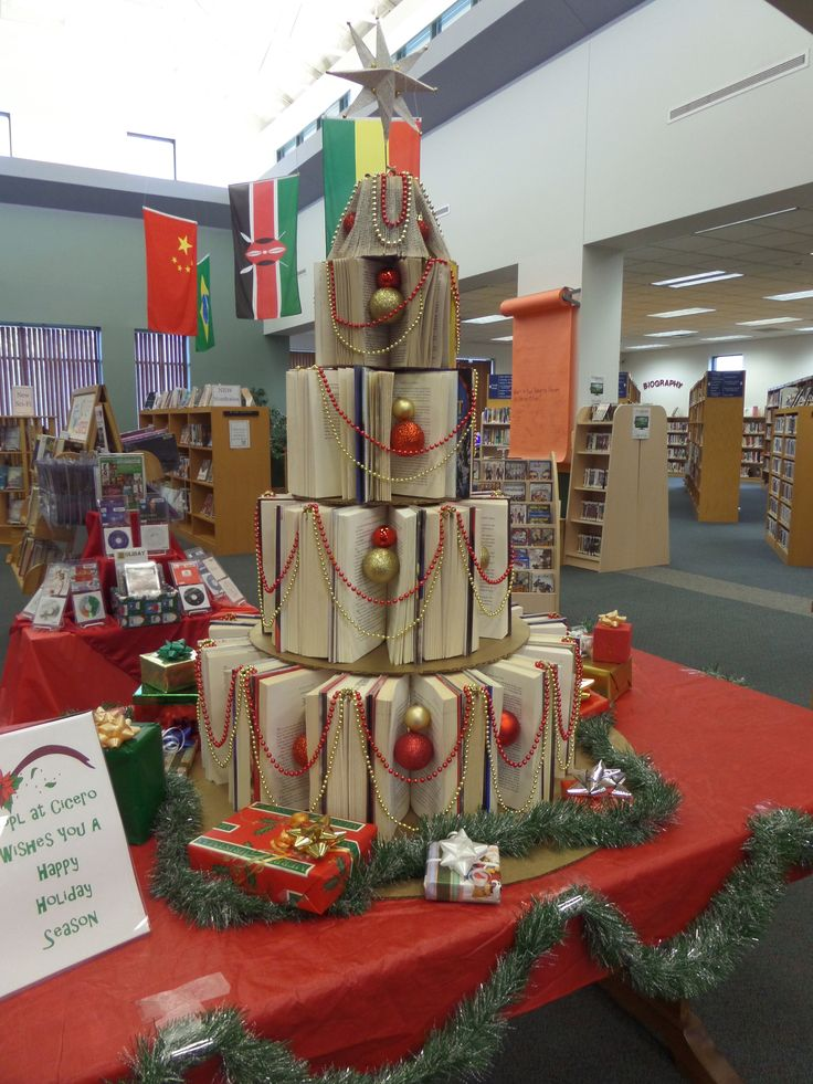 Northern Onondaga Public Library at Cicero's book tree.