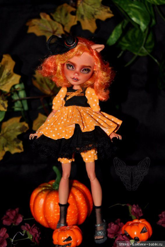 Кроха Тыковка на Хэллоуин / Куклы My Scene, Monster High, Монстер Хай от Mattel / Бэйбики. Куклы фото. Одежда для кукол
