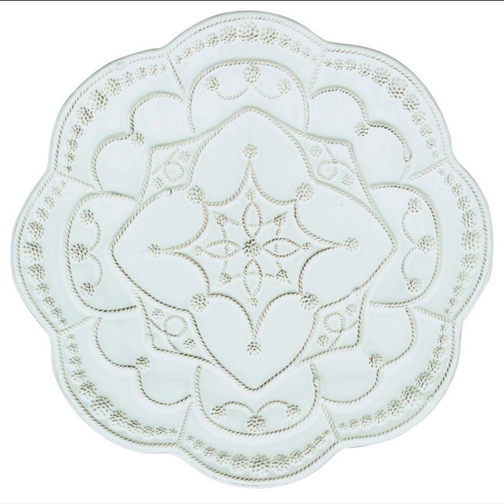 Juliska Jardins du Monde Grande Charger/Server Plate Whitewash