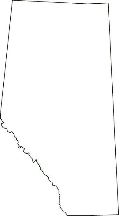 Alberta map outline