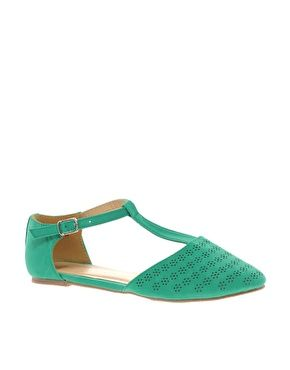 Asos Jemima Flat Shoes With T Bar