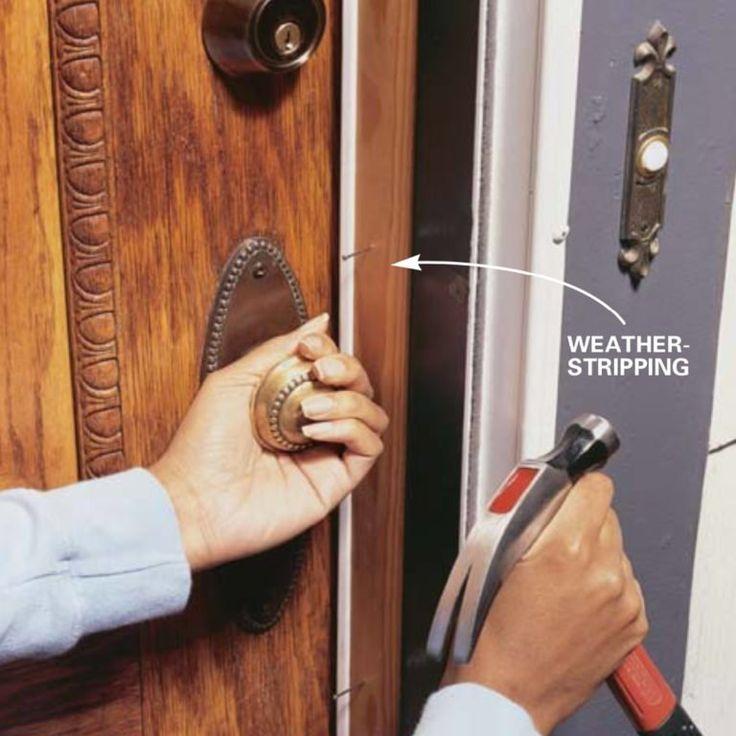 Installing Weather Stripping & Door Sweeps Door weather