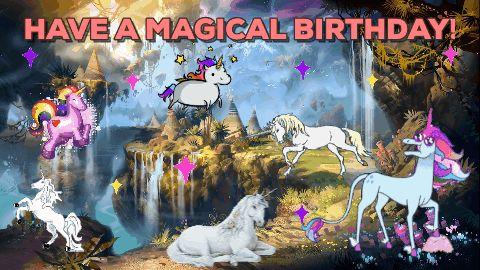 birthday happy birthday fantasy magical unicorns #humor #hilarious #funny #lol #rofl #lmao #memes #cute